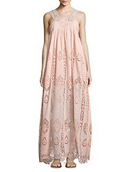 Nightcap Clothing Pixie Lace Gown Pink