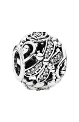 Pandora Design 'Dragonfly Meadow' Charm Silver Clear
