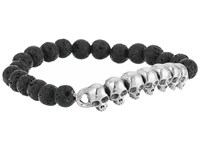 King Baby Studio 8Mm Lava Rock Beaded Bracelet With Multi Skull Bridge Lava Rock Bracelet Navy
