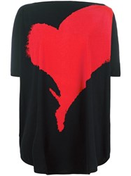 Vivienne Westwood Anglomania Heart Print Oversized T Shirt Black