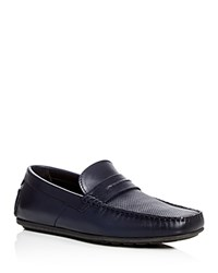 Hugo Perforated Loafers Dark Blue