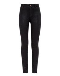 Ted Baker Aissats Wax Finish Skinny Jeans Black