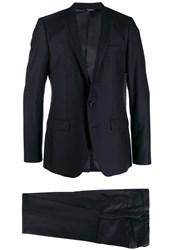 Dolce And Gabbana Classic Two Piece Suit Blue