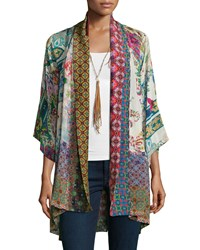 Johnny Was Dream Kimono Printed Jacket Women's Multi Print B