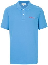 Ck Calvin Klein Embroiderd Polo Shirt Blue