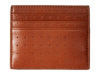 Jack Spade 610 Leather 6 Card Holder Tobacco Credit Card Wallet Brown