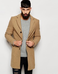 Only And Sons Wool Overcoat Camel