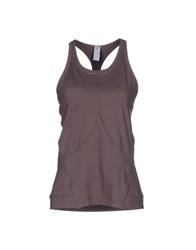 Adidas By Stella Mccartney Adidas By Stella Mccartney Topwear Vests Women Dove Grey