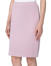 Tahari By Arthur S. Levine Solid Pencil Skirt Dusty Pink