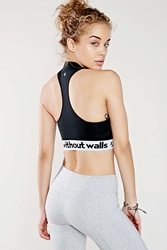 Without Walls Mock Turtleneck Bra Top Black