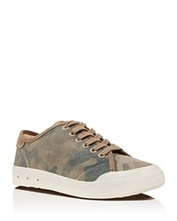 Rag And Bone Standard Issue Low Top Lace Up Camouflage Canvas Sneakers Beige Camo