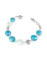 Antica Murrina Veneziana Frida Murano Glass Bead Bracelet Blue