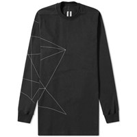Rick Owens Embroidered Crew Sweat Black