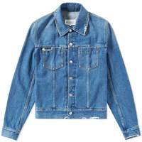 Maison Martin Margiela 10 Distressed Denim Jacket Blue