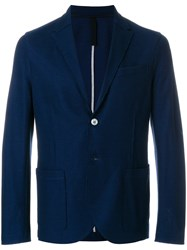 Harris Wharf London Casual Button Blazer Blue