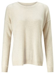 John Lewis Collection Weekend By Drop Sleeve Cashmere Jumper Natural
