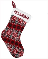 Forever Collectibles Oklahoma Sooners Ugly Sweater Knit Team Stocking Red