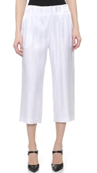 Tess Giberson Shimmer Culottes White