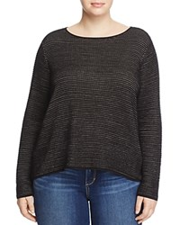 Eileen Fisher Plus Boat Neck Sweater Black