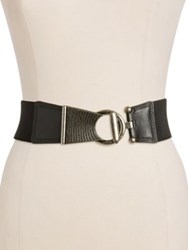 Fashion Focus Stretch Belt Brown Gold