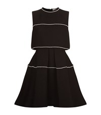 Sandro Pearl Overlay Dress Female Black