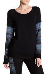 Threads For Thought Tavi Contrast Geometric Print Pullover Multi