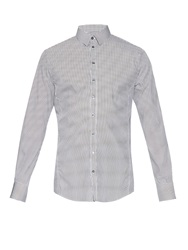 Dolce And Gabbana Sicilia Fit Micro Striped Shirt