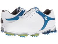 Footjoy Tour S Cleated Tpu Saddle Strap White Trans Dark Blue Golf Shoes