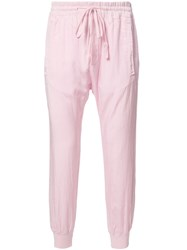 Haider Ackermann Drawstring Trousers Pink Purple