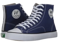 Pf Flyers All American Hi Basin Canvas Men's Lace Up Casual Shoes Blue
