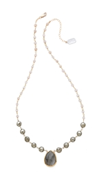 Ela Rae Libi Two Necklace Pink Opal