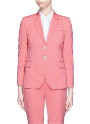 Gucci Wool Silk Notched Lapel Jacket Pink