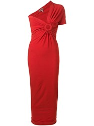 Romeo Gigli Vintage 1990'S Fitted Dress Red