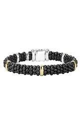 Lagos Women's 'Black Caviar' Rope Bracelet Black Caviar Gold