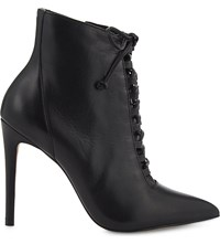 Aldo Jonasson Leather Ankle Boots Black Leather