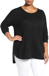 Sejour Plus Size Women's Wool And Cashmere Scoop Neck Sweater