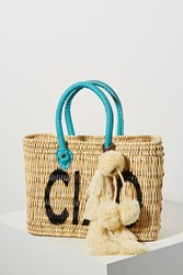 Misa Los Angeles Jane Expressions Woven Tote Bag Blue