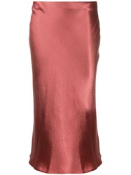 Vince Low Waist Satin Midi Skirt 60
