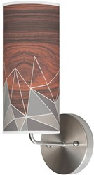 Jefdesigns Facet Wall Sconce Jd_Fgrey_Soma Grey Gray