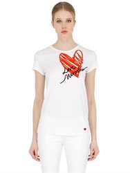 Love Moschino Cotton Jersey T Shirt