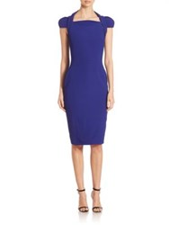 Antonio Berardi Cady Cap Sleeve Dress Electric Blue