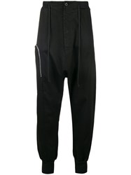 Lost And Found Rooms Zipped Drop Crotch Joggers Black