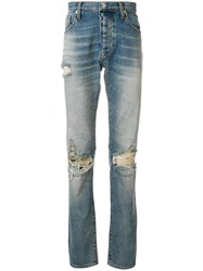 Unravel Project Distressed Long Jeans Blue