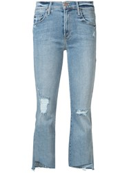 Mother Cropped Jeans Women Cotton Polyester Spandex Elastane 25 Blue
