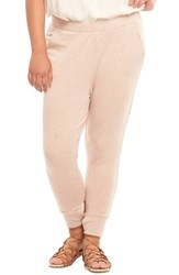 Tart Plus Size Women's Zadie Jogger Pants Blush With Rose