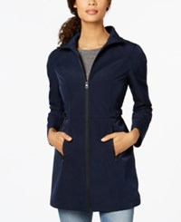 Nautica Buckle Side Hooded Softshell Raincoat Navy Seas
