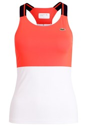 Lacoste Sport Vest Fluo Energy White Navy Blue Red