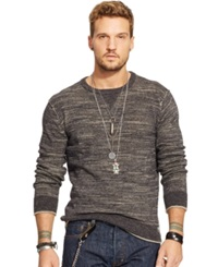 Denim And Supply Ralph Lauren Cotton Crewneck Sweater Charcoal