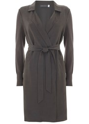 Mint Velvet Smoke Longline Duster Cardigan Grey