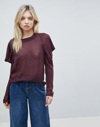 Minimum Cold Shoulder Jumper Purple